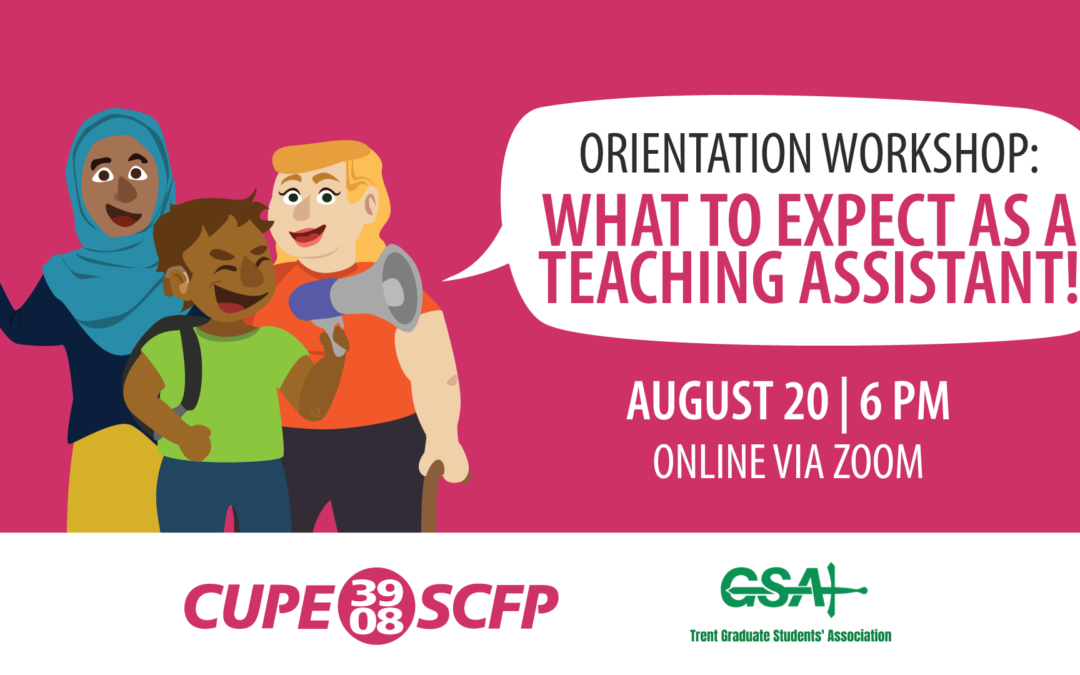Orientation Workshop: What to Expect as a Graduate Teaching Assistant